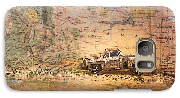 Galaxy Case featuring the photograph Vintage Map And Truck by Mary Hone