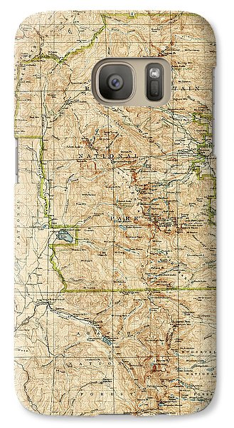 Galaxy Case featuring the drawing Vintage Map Of Rocky Mountain National Park - Colorado - 1919/1940 by Blue Monocle