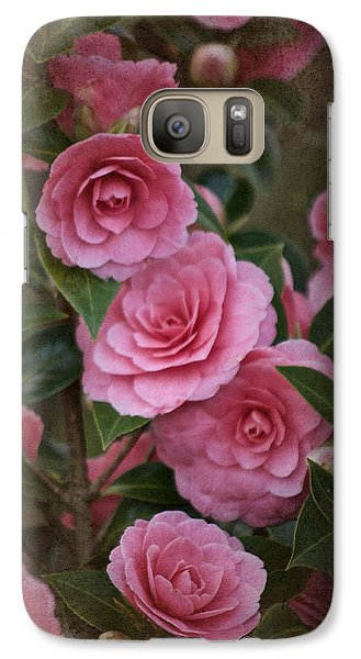 Galaxy Case featuring the photograph Vintage March 2017 Camillias No. 2 by Richard Cummings