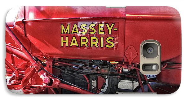 Galaxy Case featuring the photograph Vintage Massey Harris Tractor by Ann Powell