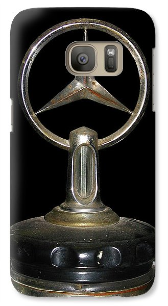 Galaxy Case featuring the photograph Vintage Mercedes Radiator Cap by David and Carol Kelly