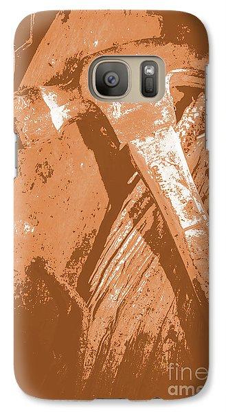 Vintage Miners Hammer Artwork Galaxy S7 Case