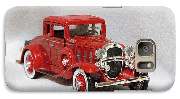 Galaxy Case featuring the photograph Vintage Model Fire Chiefcar by Linda Phelps