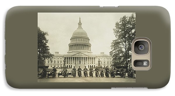 Vintage Motorcycle Police - Washington Dc  Galaxy S7 Case by War Is Hell Store