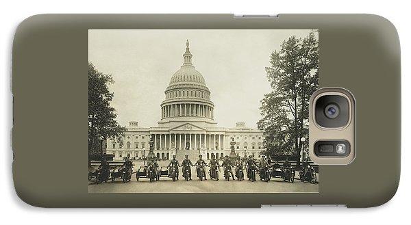 Vintage Motorcycle Police - Washington Dc  Galaxy S7 Case