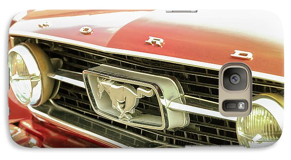 Galaxy Case featuring the photograph Vintage Mustang by Caitlyn Grasso