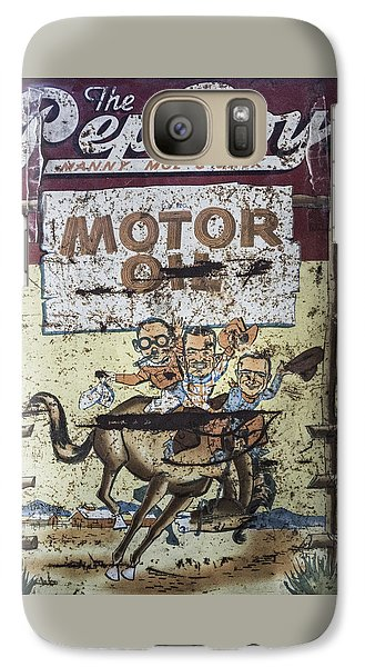 Galaxy Case featuring the photograph Vintage Pep Boys Sign by Christina Lihani