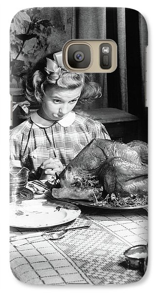 Vintage Photo Depicting Thanksgiving Dinner Galaxy S7 Case