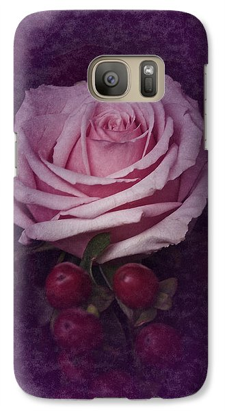 Galaxy Case featuring the photograph Vintage Pink Rose Feb 2017 by Richard Cummings