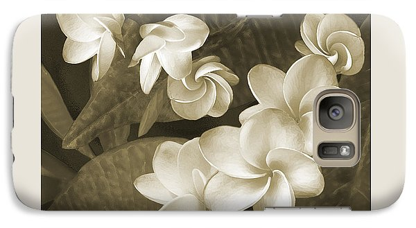 Galaxy Case featuring the photograph Vintage Plumeria by Ben and Raisa Gertsberg