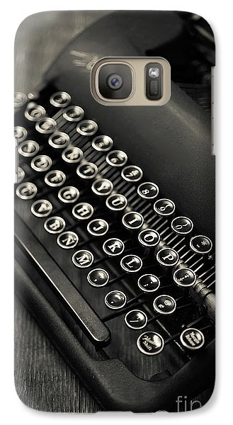 Galaxy Case featuring the photograph Vintage Portable Typewriter by Edward Fielding
