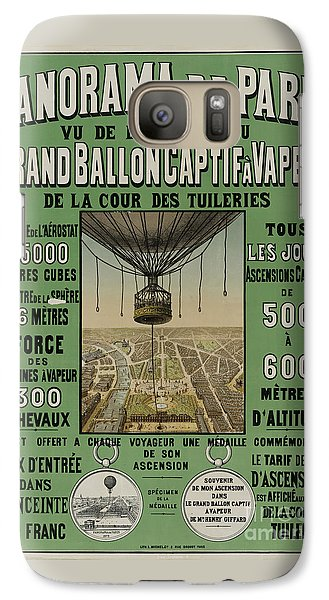Galaxy Case featuring the photograph Vintage Poster Of Great Balloon View Of Paris 1878 by John Stephens