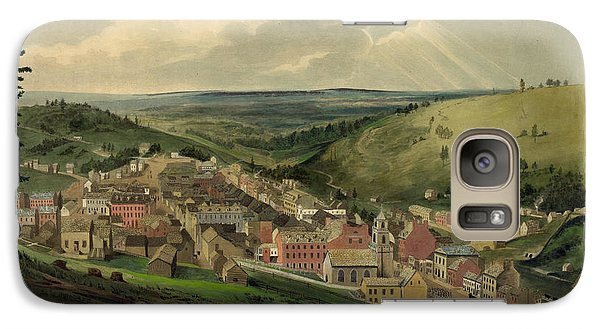 Galaxy Case featuring the photograph Vintage Pottsville Pennsylvania Etching With Remarque by John Stephens