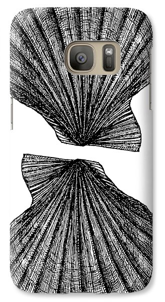 Galaxy Case featuring the photograph Vintage Scallop Shells by Edward Fielding