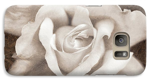 Galaxy Case featuring the photograph Vintage Sepia Rose Flower by Jennie Marie Schell
