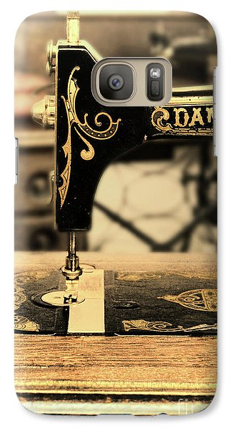 Galaxy Case featuring the photograph Vintage Sewing Machine by Jill Battaglia