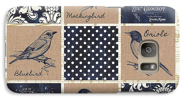 Mockingbird Galaxy S7 Case - Vintage Songbird Patch 2 by Debbie DeWitt