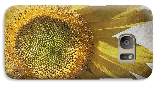Sunflower Galaxy S7 Case - Vintage Sunflower by Jane Rix