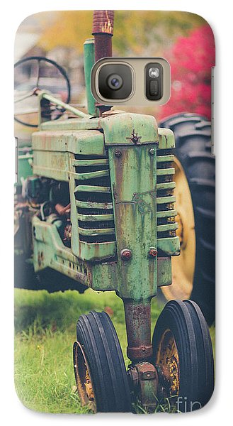 Galaxy Case featuring the photograph Vintage Tractor Autumn by Edward Fielding