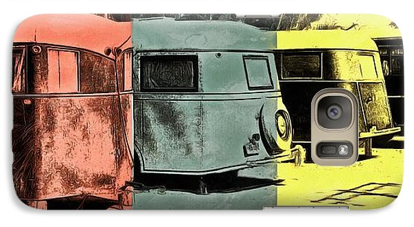 Galaxy Case featuring the painting Sarasota Series Vintage Trailer Park Pop Art by Edward Fielding