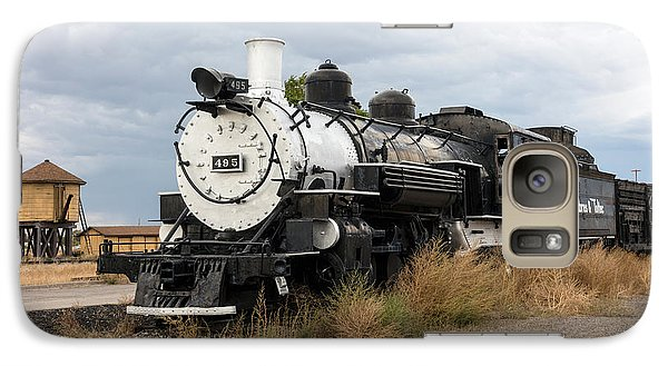 Galaxy Case featuring the photograph Vintage Train At A Scenic Railroad Station In Antonito In Colorado by Carol M Highsmith