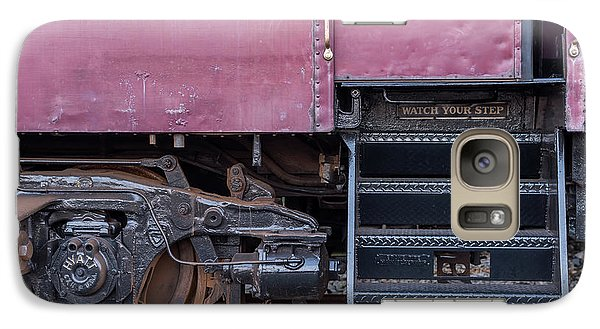 Galaxy Case featuring the photograph Vintage Train Car Steps by Terry DeLuco