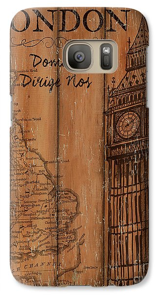 Vintage Travel London Galaxy S7 Case