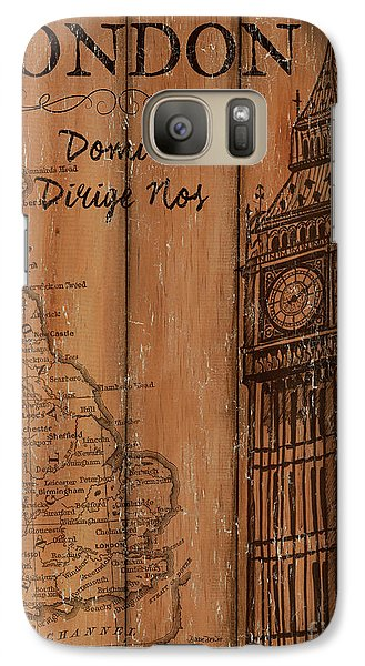 Galaxy Case featuring the painting Vintage Travel London by Debbie DeWitt