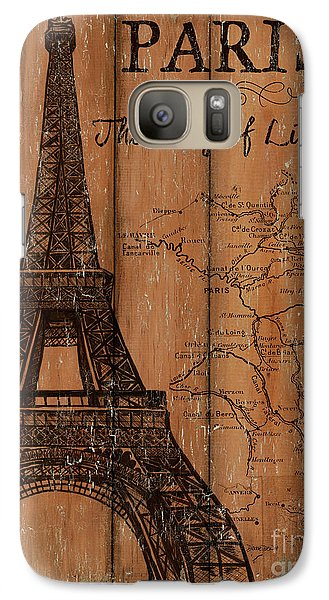 Vintage Travel Paris Galaxy S7 Case by Debbie DeWitt