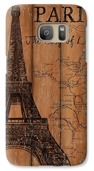 Galaxy Case featuring the painting Vintage Travel Paris by Debbie DeWitt