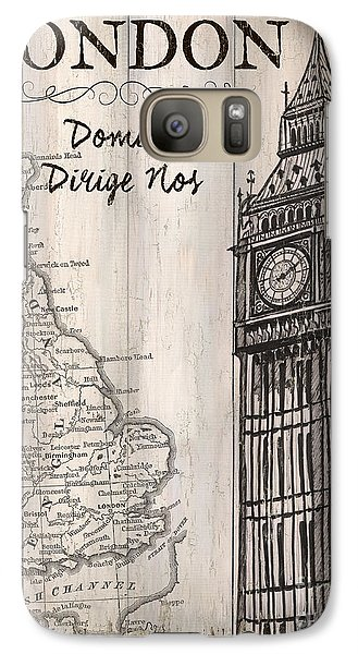 Vintage Travel Poster London Galaxy S7 Case