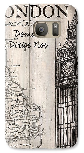 Vintage Travel Poster London Galaxy S7 Case by Debbie DeWitt