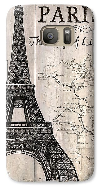 Vintage Travel Poster Paris Galaxy S7 Case