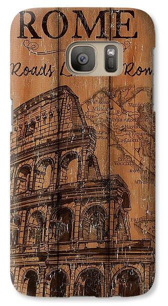 Galaxy Case featuring the painting Vintage Travel Rome by Debbie DeWitt