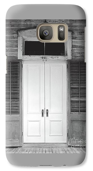 Galaxy Case featuring the photograph Vintage Tropical Weathered Key West Florida Doorway by John Stephens