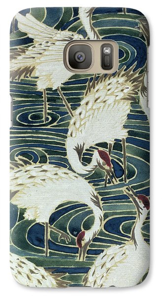 Stork Galaxy S7 Case - Vintage Wallpaper Design by English School