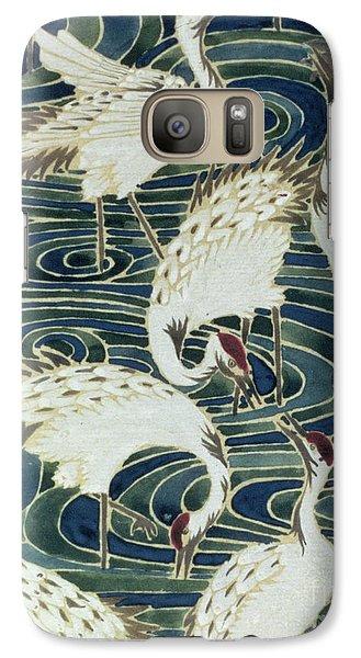 Vintage Wallpaper Design Galaxy S7 Case by English School
