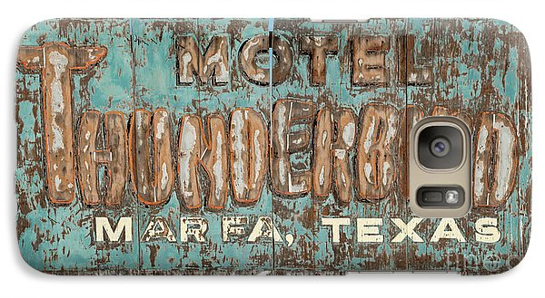 Galaxy Case featuring the photograph Vintage Weathered Thunderbird Motel Sign Marfa Texas by John Stephens