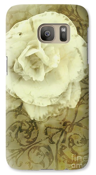 Spider Galaxy S7 Case - Vintage White Flower Art by Jorgo Photography - Wall Art Gallery