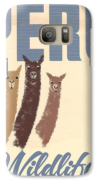 Vintage Wild Life Travel Llamas Galaxy Case by Mindy Sommers