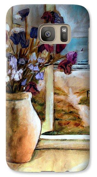 Violet Beach Flowers Galaxy S7 Case
