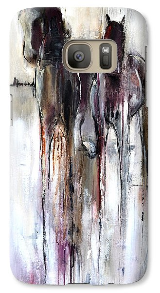 Galaxy Case featuring the painting Violet Mirage by Cher Devereaux