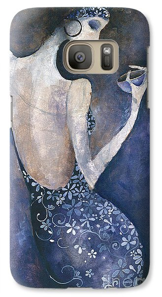 Galaxy Case featuring the painting Violet Inspiration by Maya Manolova