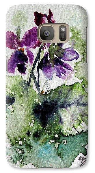 Galaxy Case featuring the painting Violet Iv by Kovacs Anna Brigitta