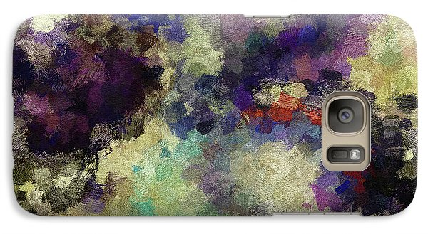 Galaxy Case featuring the painting Violet Landscape Painting by Ayse Deniz