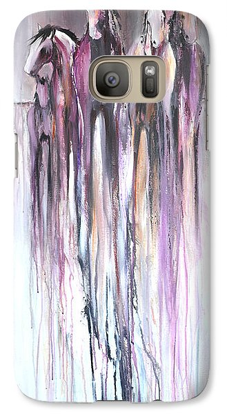 Galaxy Case featuring the painting Violet Mirage 2 by Cher Devereaux