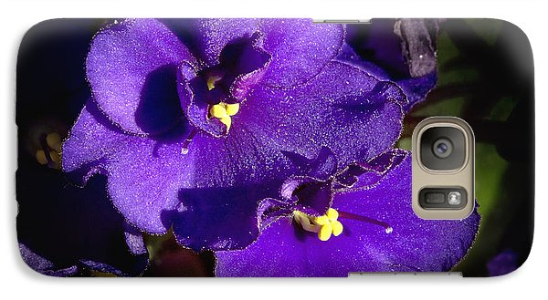 Galaxy Case featuring the photograph Violets by Phyllis Denton