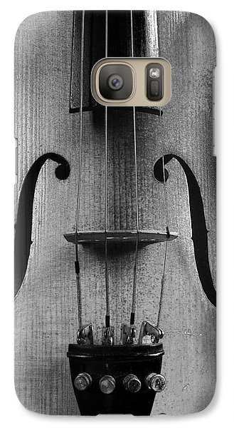 Galaxy Case featuring the photograph Violin # 2 Bw by Jim Mathis