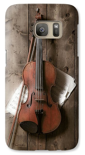 Violin Galaxy S7 Case - Violin by Garry Gay