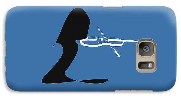 Galaxy Case featuring the digital art Violin In Blue by Jazz DaBri